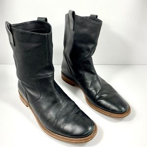 Cole Haan Black Leather Ankle Boots, 8.5